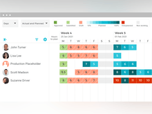 VOGSY Software - Optimize your Resources: Track planned hours vs availability using VOGSY's interactive resource scheduler. Put an end to bench time or overbookings. Soft or hard bookings, billable and non-billable, working hours, holidays; VOGSY keeps everyone in sync.