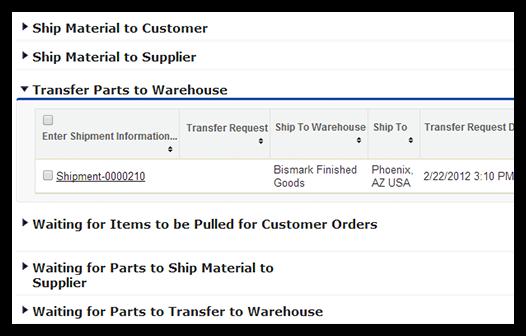 Shipment management