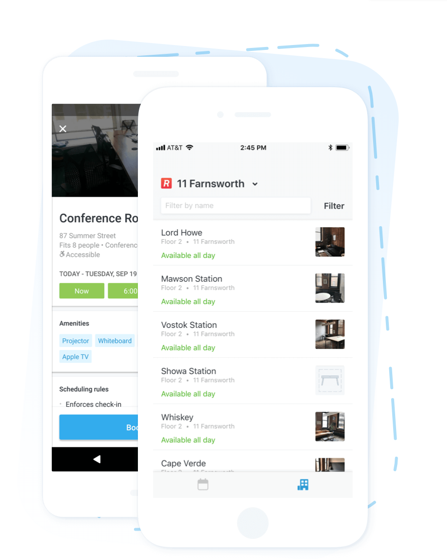 Robin screenshot: Manage personal and work calendars from one place, with smart notifications and location-based reminders, via iOS and Android mobile devices