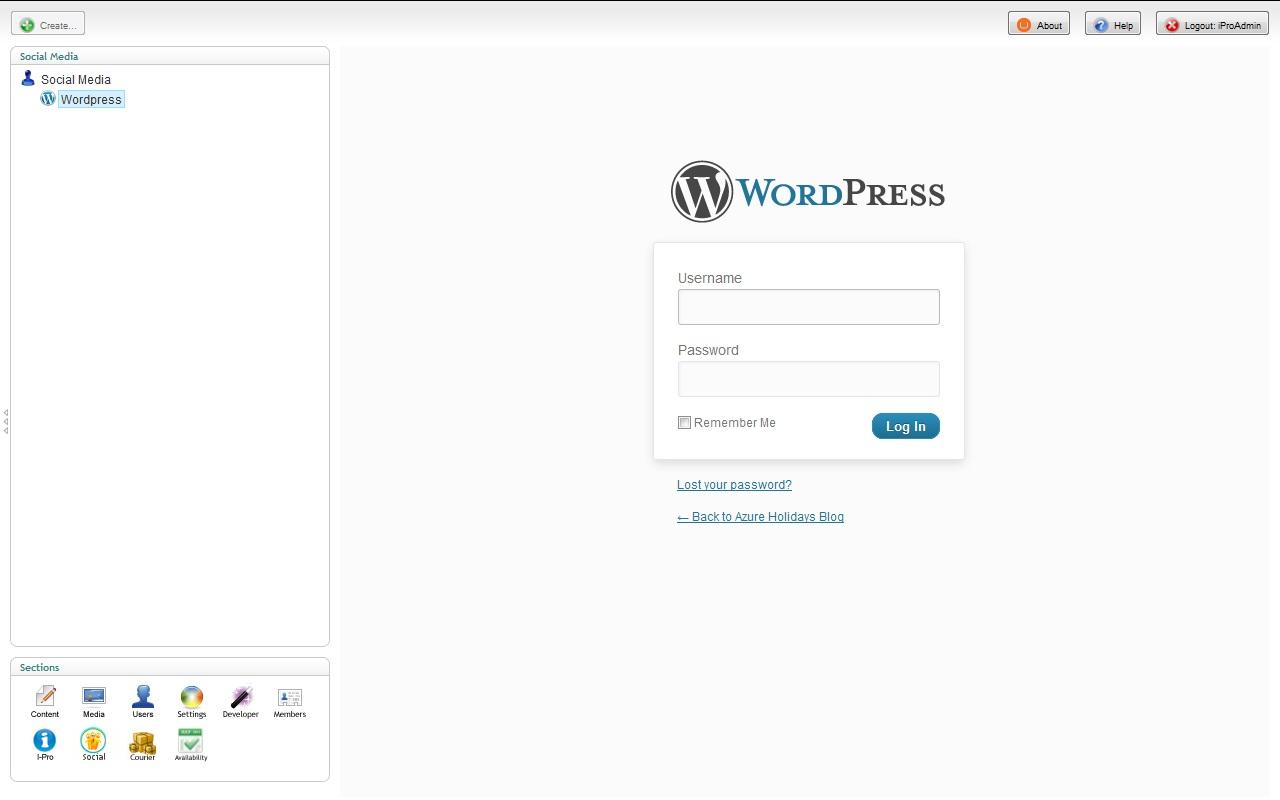 Blog integration