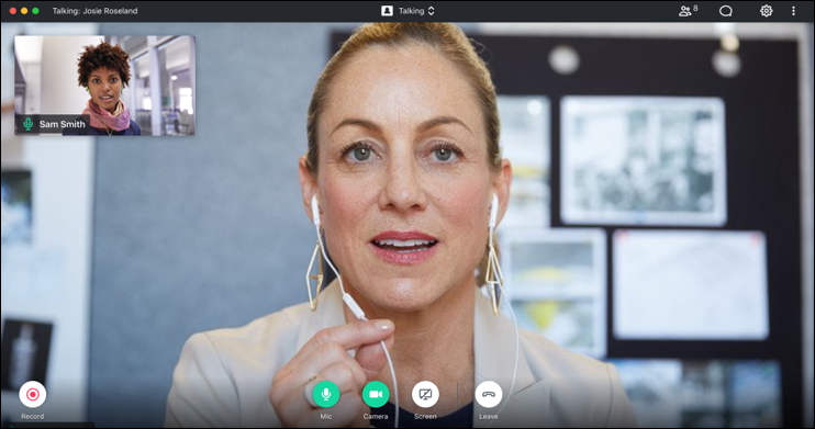 Select Your Preferred Camera View  Build better business relationships with an all new 1:1 view during individual meetings. Or use it with multiple participants to automatically see the active speaker.