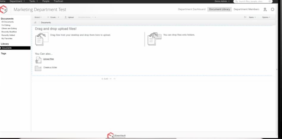EisenVault document upload