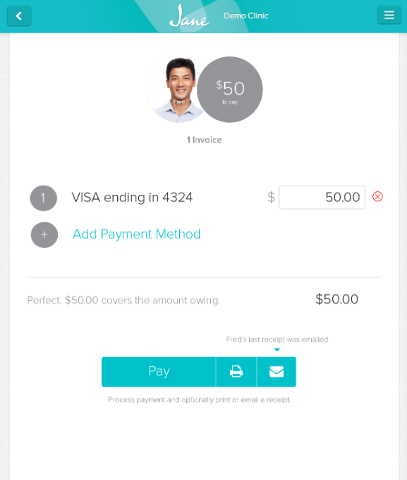 Jane payment processing