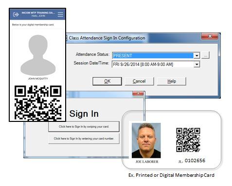 MTP App QR Sign in for meetings and classes