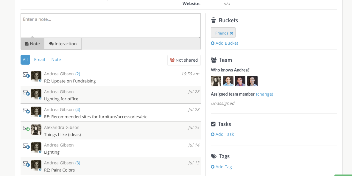 Contactually Software - Create multiple client buckets
