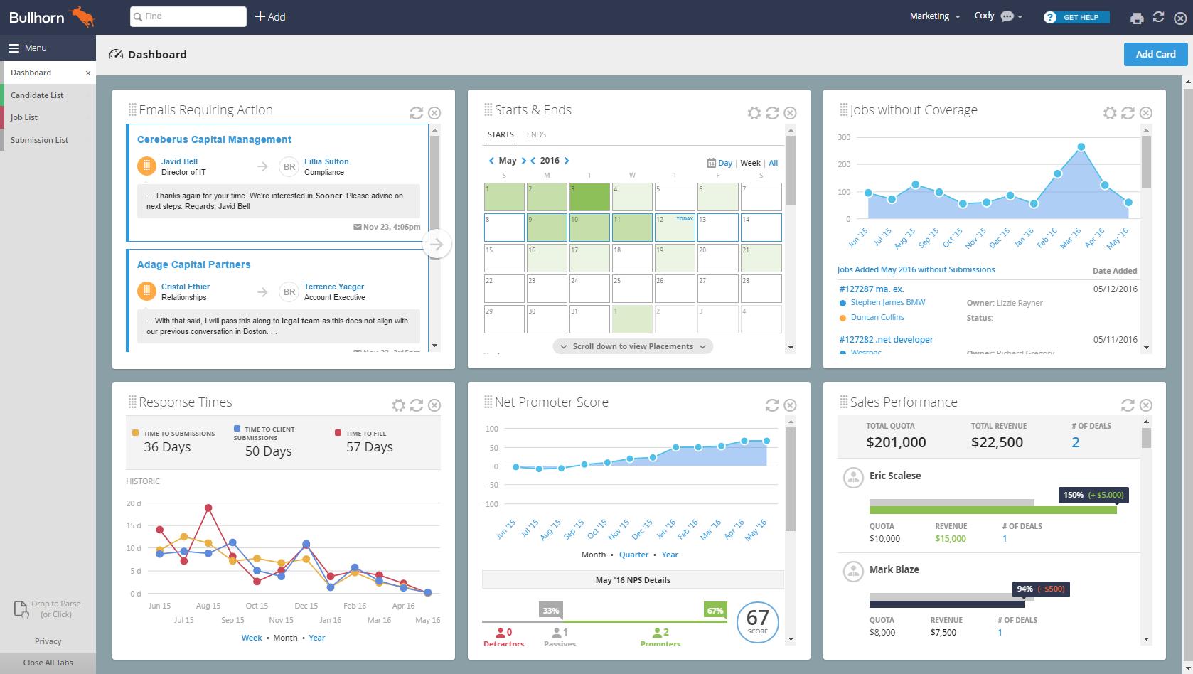 Bullhorn ATS & CRM Software - 4