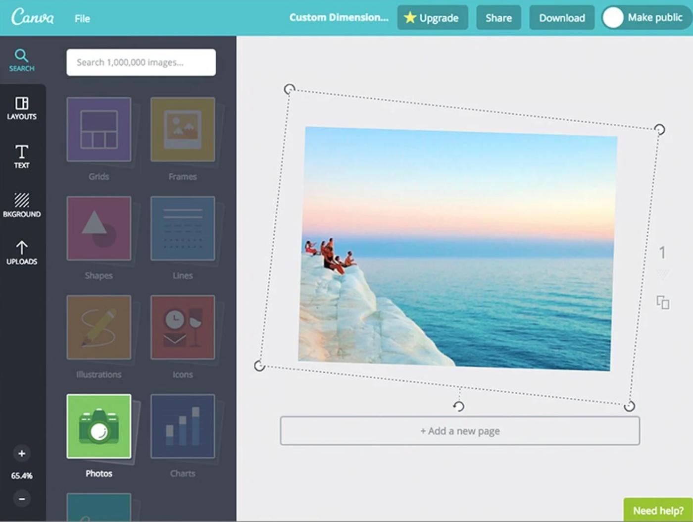 Canva Software - Canva photo editor