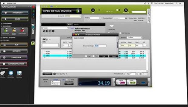 POSIM Retail POS dashboard screenshot