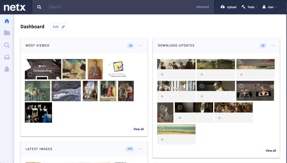 NetX screenshot: Dashboard