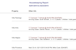 Lodgix Screenshot: Lodgix generates housekeeping reports to keep staff informed of check-ins and check-outs