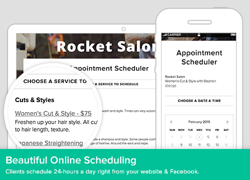 Add online scheduling directly to the organization's website