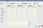 ASAP Rent screenshot: ASAP Rent also includes a time clock for time tracking