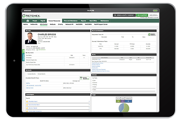 Netchex gives users access to the HR information they need in real-time, from PTO requests to accruals information