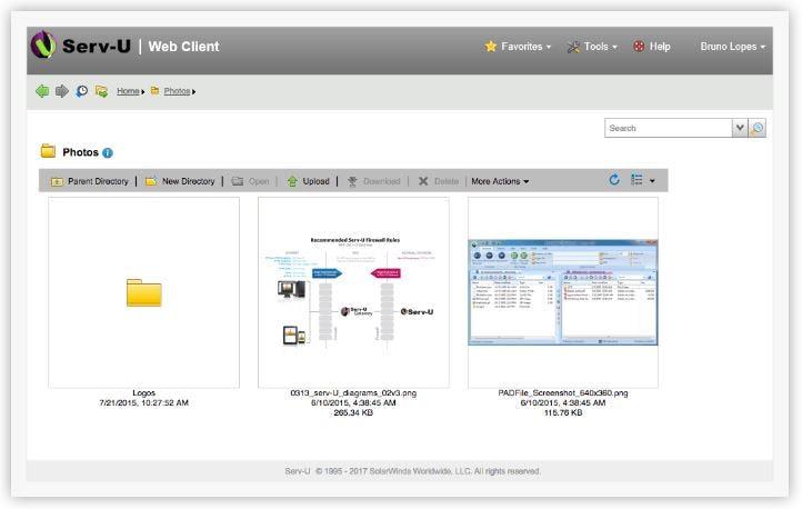 Serv-U FTP Server Software - Web client