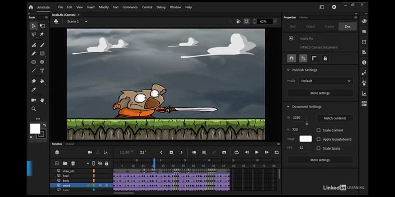 Adobe Animate add animations