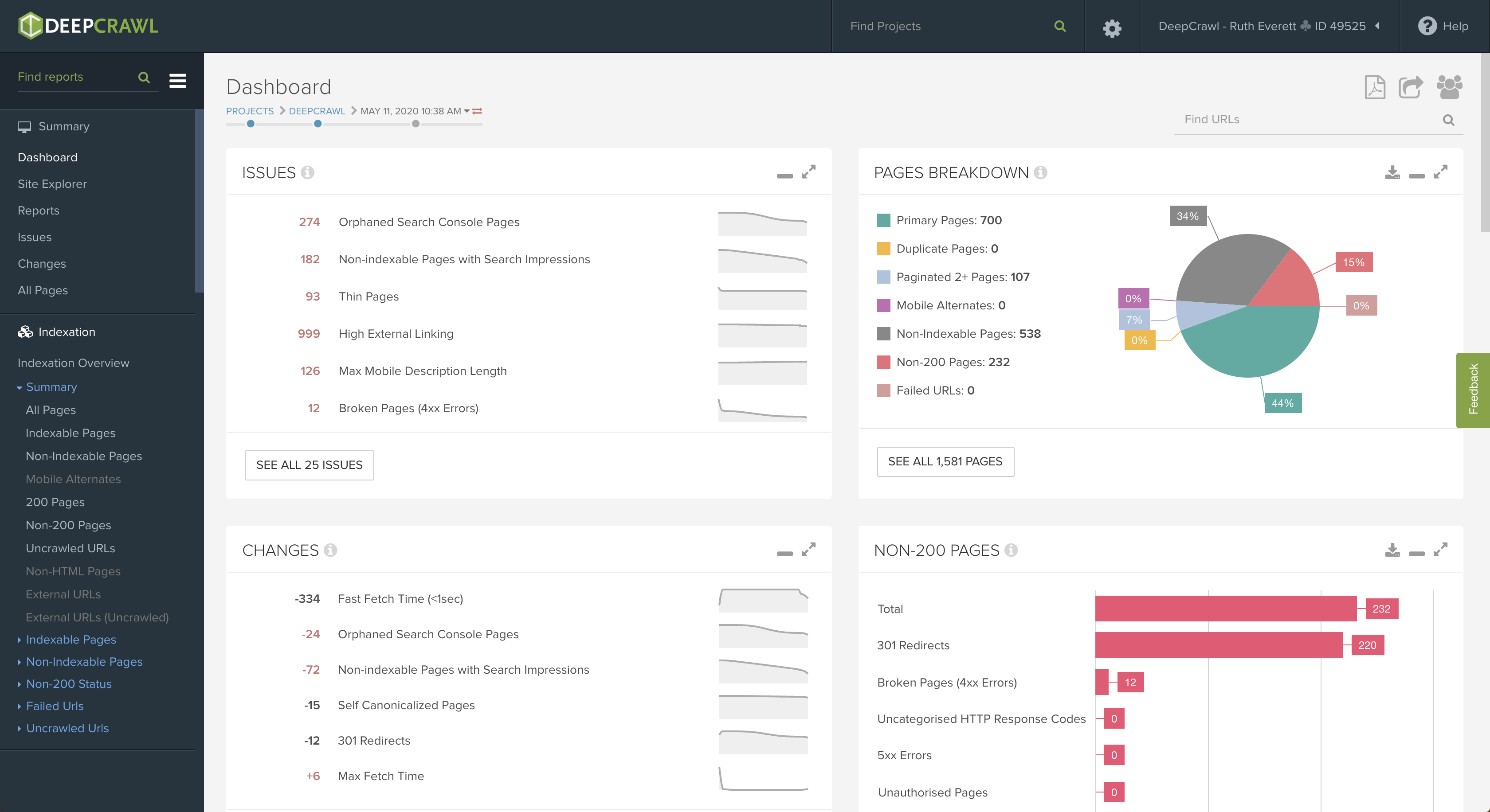 See all your crawl data, analytics, and actionable insights in one powerful, easy-to-use, enterprise-scale platform.