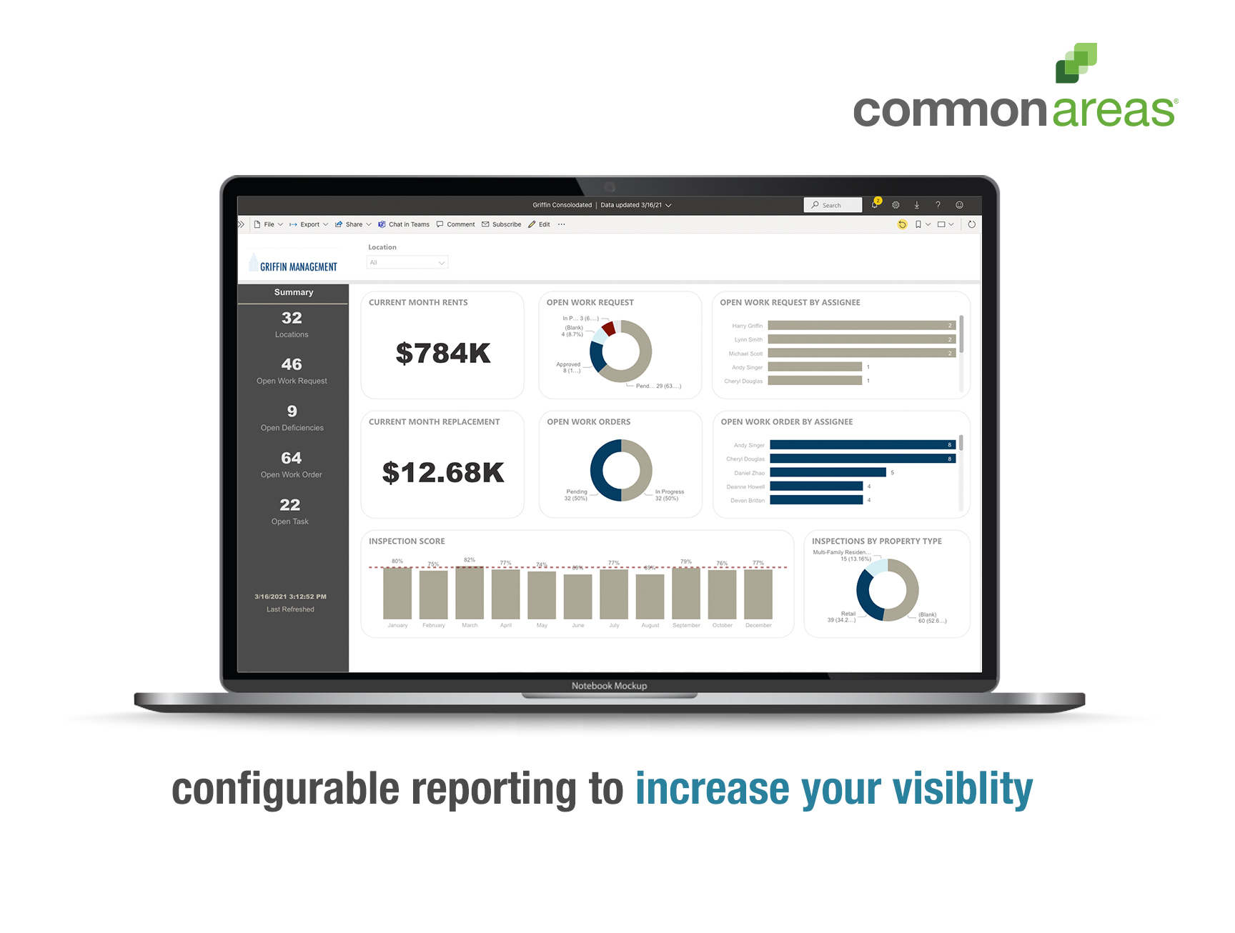 Common Areas simplifies and streamlines your property management operations to help you ensure quality standards are achieved, expectations are exceeded, and problems are resolved before they get out of hand.