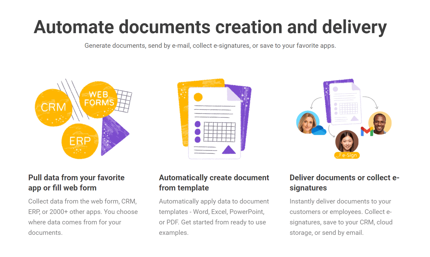 Automate document creation and delivery