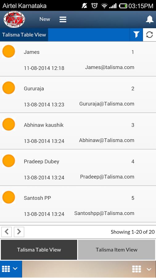 Talisma - Mobile app