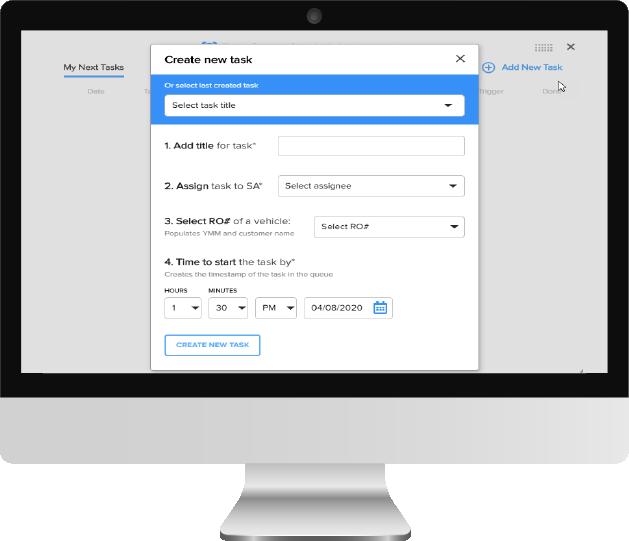 The Digital Shop create new tasks