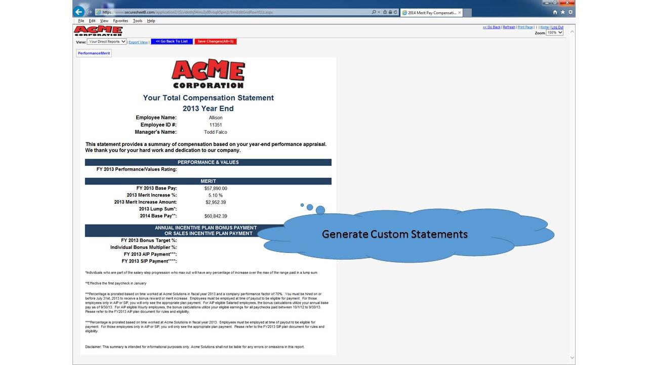 Custom statements