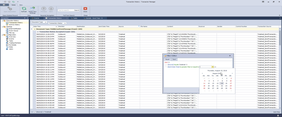 Tranzactor workflow manager