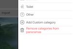 LiveTour screenshot: Categorize panoramic tours