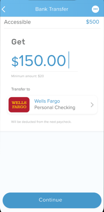 PayActiv fund transfer