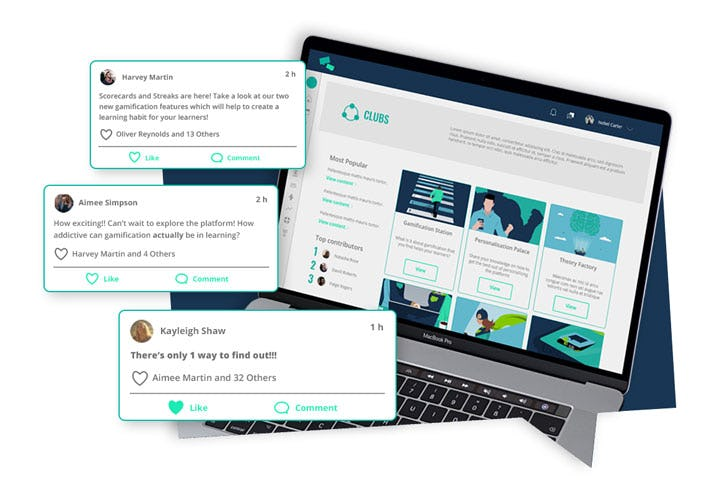 The Academy LMS Software - Say hello to a thriving learning community fuelled by user generated content.