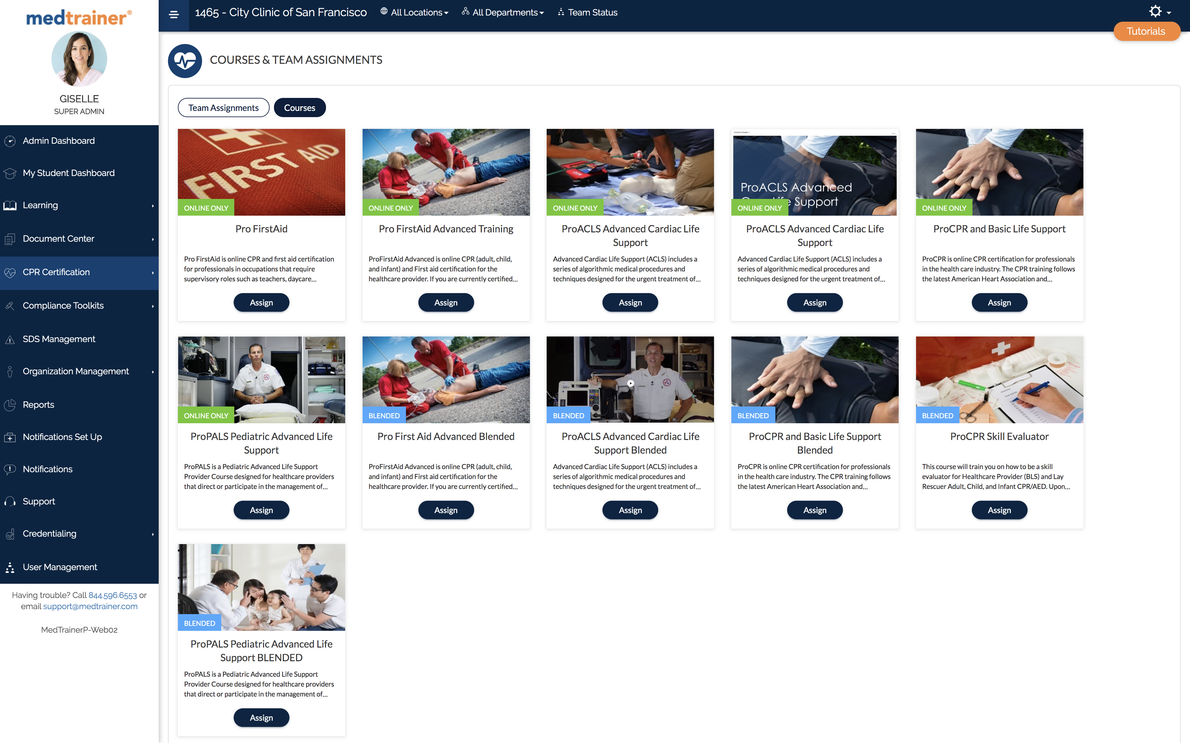 Medtrainer course catalog