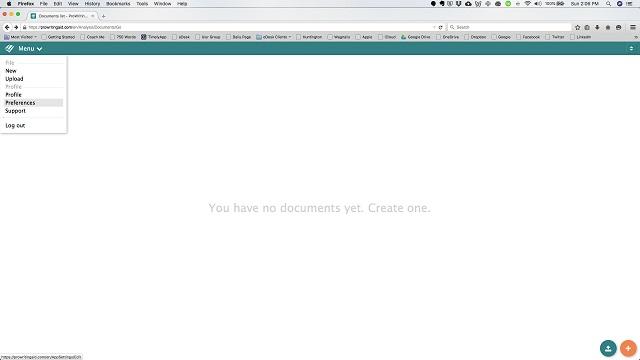 ProWritingAid screenshot: ProWritingAid create documents