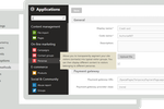 Xperience screenshot: Xperience's applications are accessed from the main menu in the dashboard