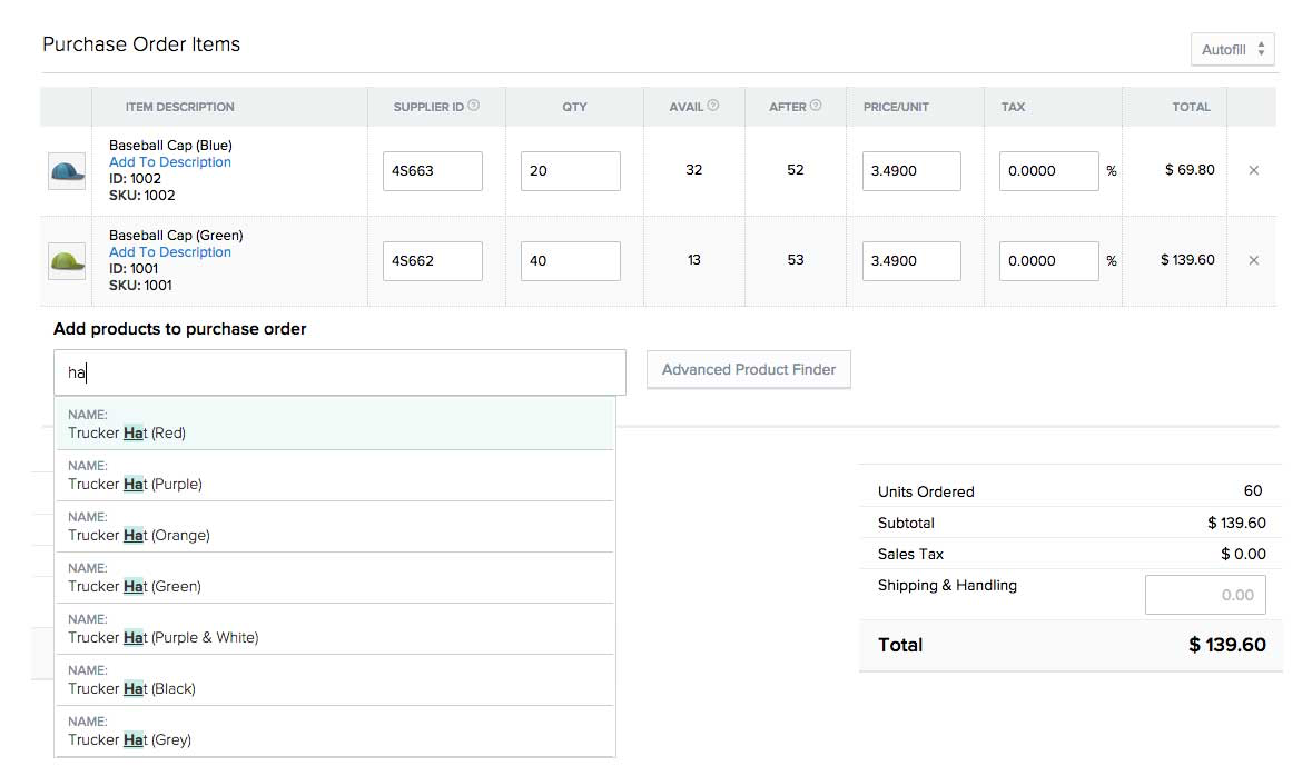 Stitch Labs Purchase Orders