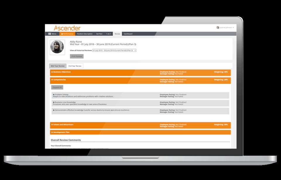 Ascender Payroll and HCM Software - Performance Management
