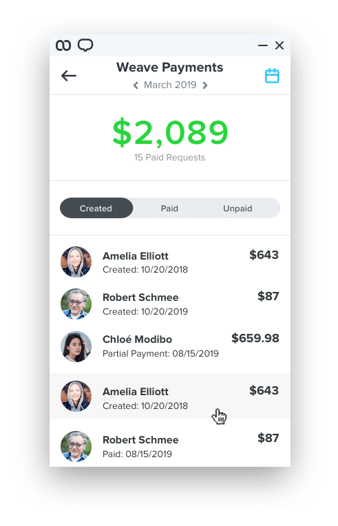 Weave Software - Weave payments