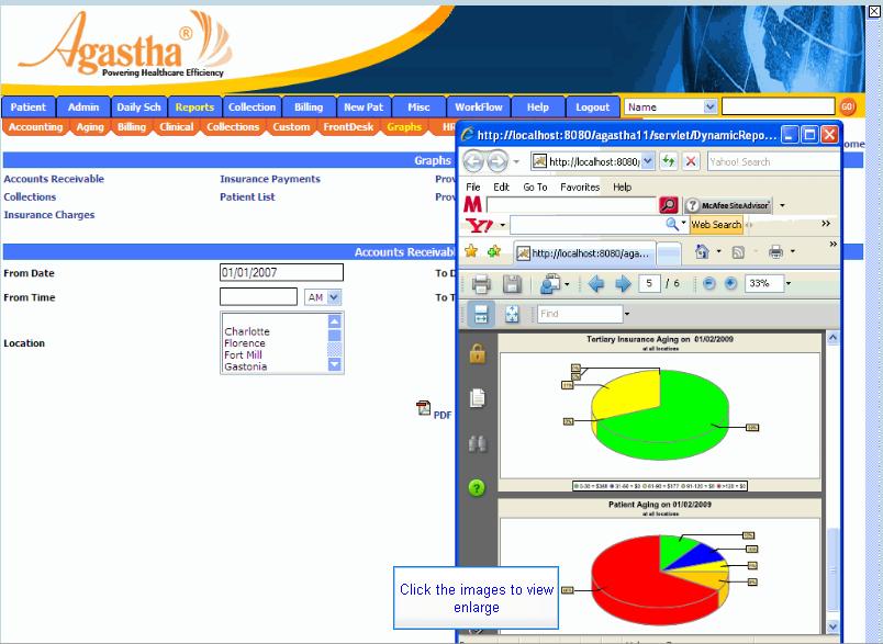 Agastha EHR Software - Creating charts