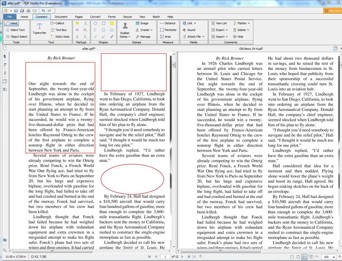 PDF Studio - side by side comparisons