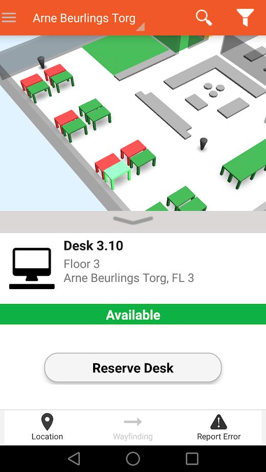 Flowscape Software - Flowscape reserve desk