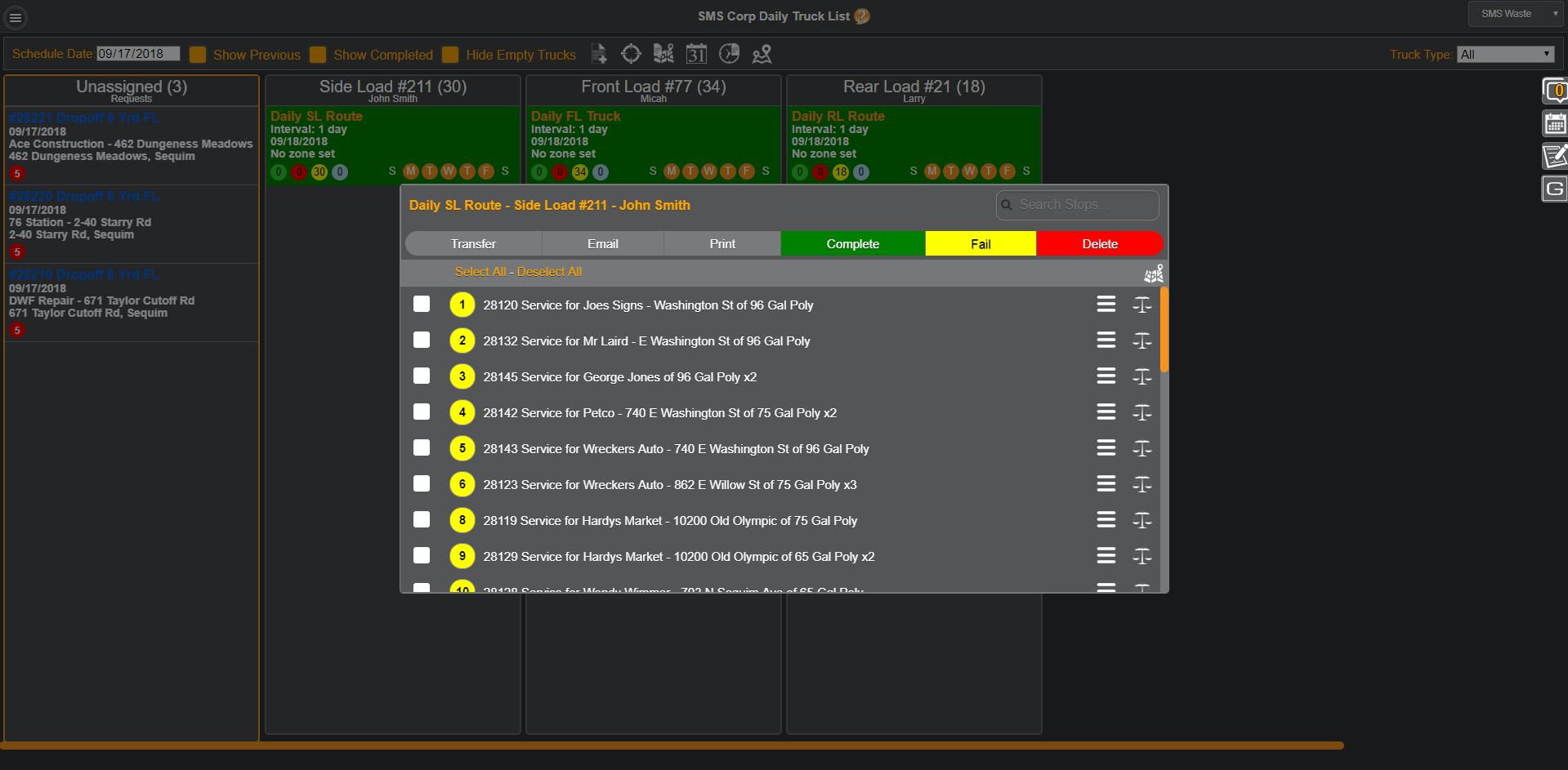 CRO Software routing screenshot
