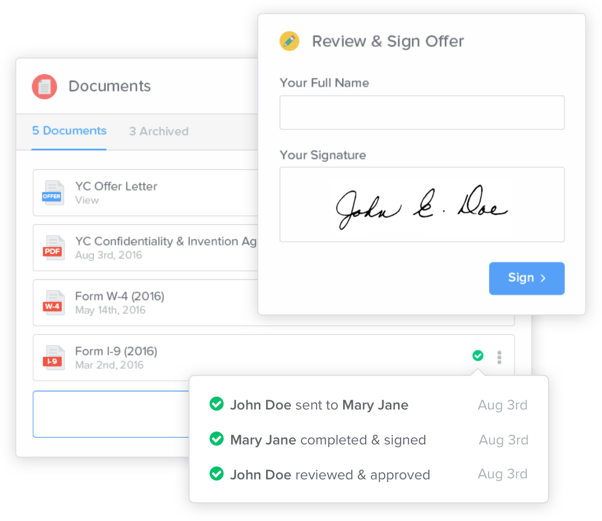 Manage all documents and files from one central location with GoCo