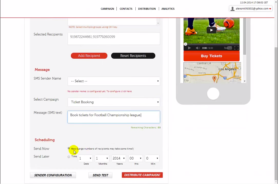 Choose a channel, fill in the details, select the campaign and start promoting or schedule for late
