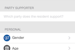 Ecanvasser screenshot: Custom fields capture the custom data that really matters to your campaign