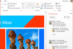 Capture d'écran pour Microsoft PowerPoint : Work together to make your presentation shine