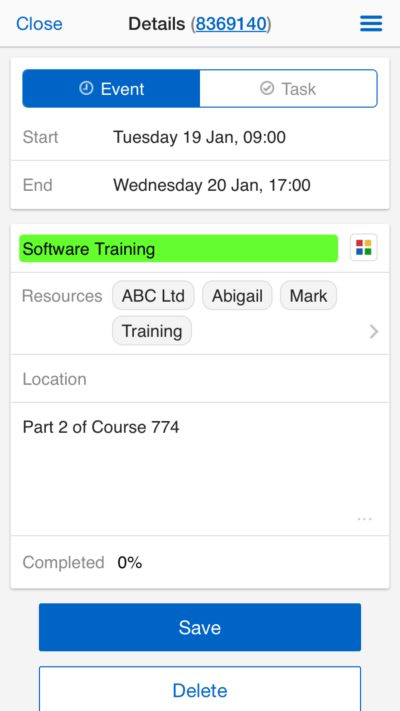 Users can also schedule events or tasks through the Schedule It mobile app