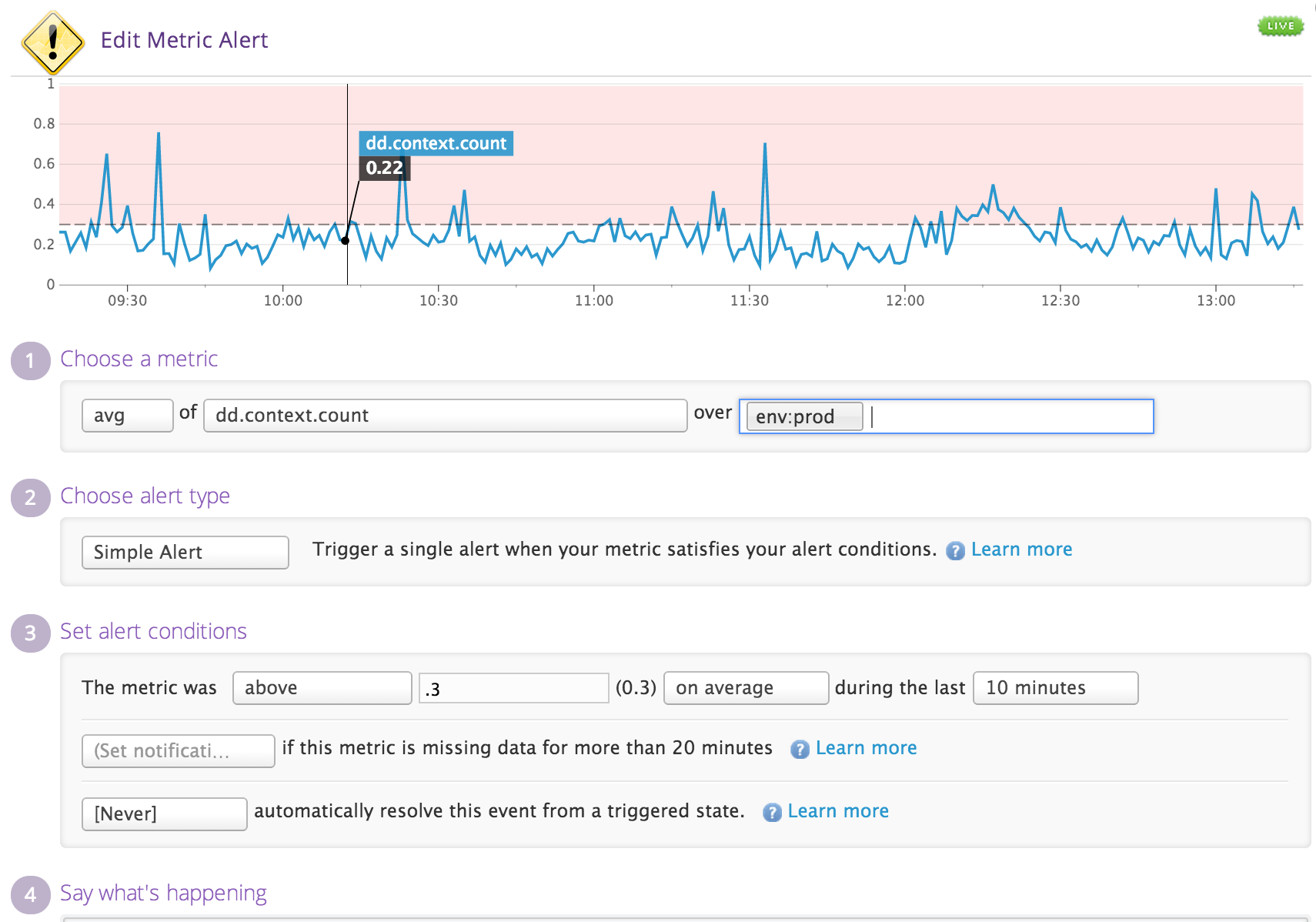Get alerted only on critical issues using any metric, for a single host or for an entire cluster
