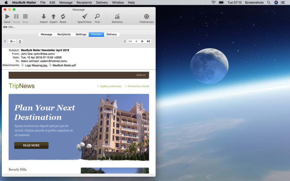 MaxBulk Mailer Software - 3