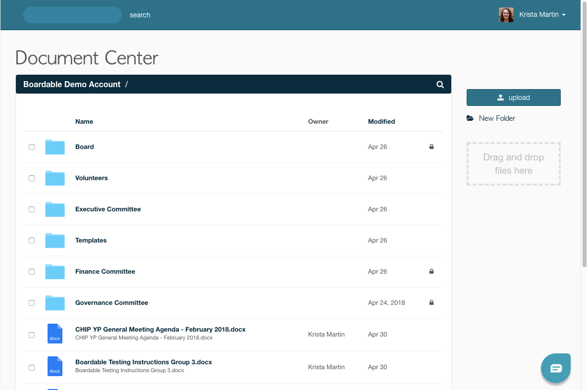 Boardable document center