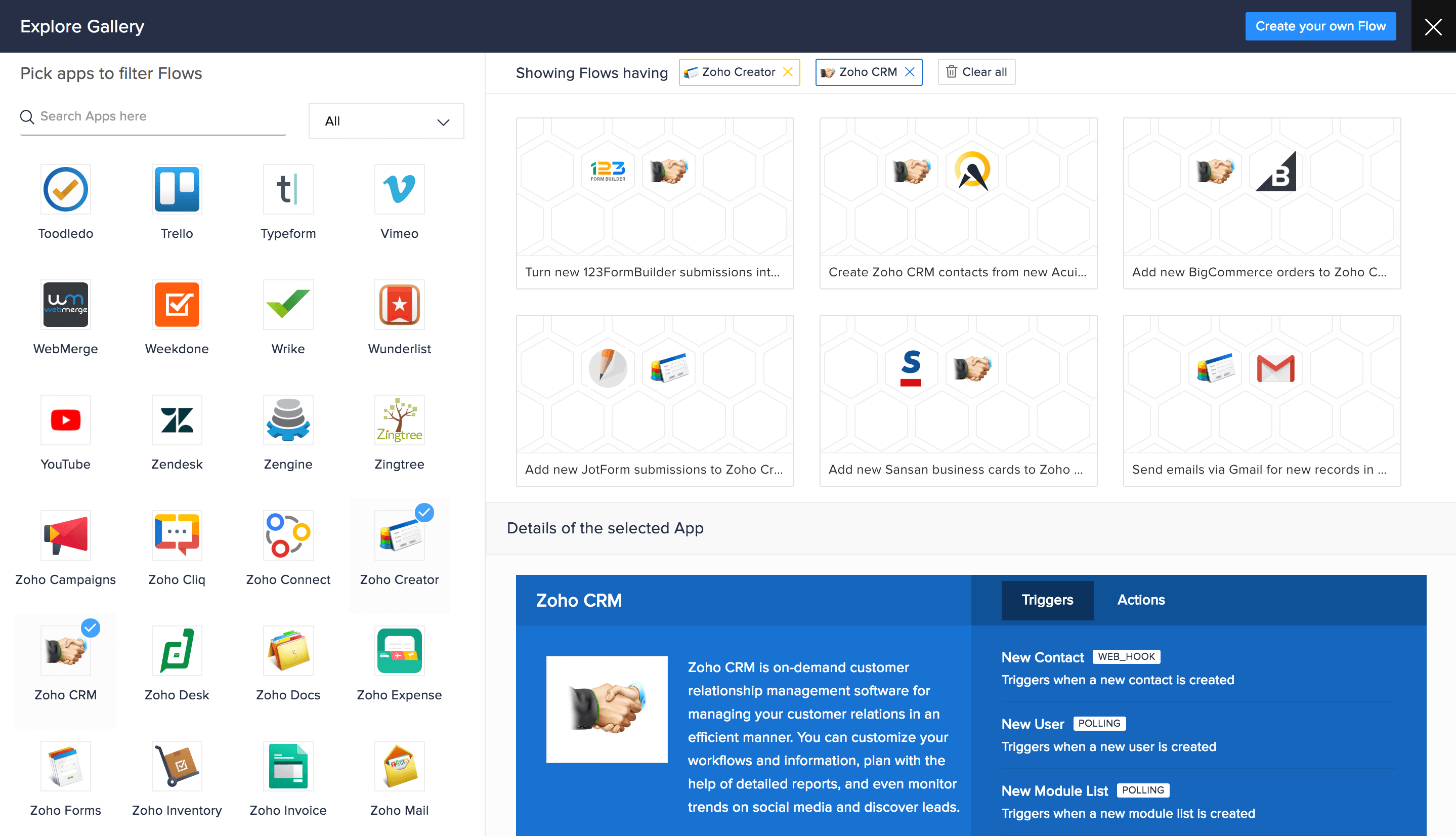 Browse a collection of Flow templates to explore ideas for the business