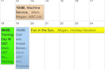 Schedule it Screenshot: Users can view schedules through the web, desktop, or mobile apps