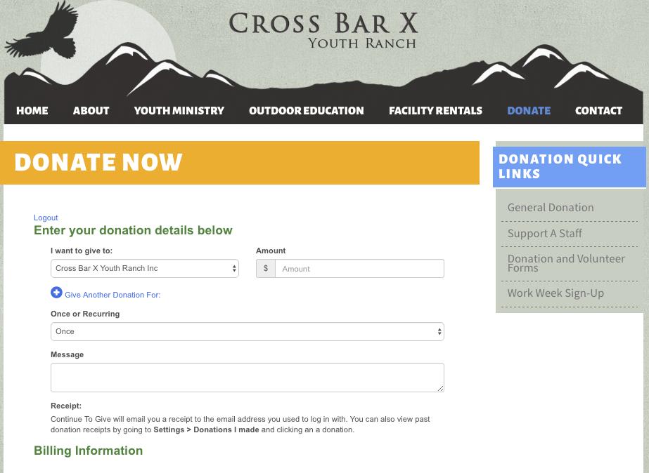 Offer online giving options directly via website